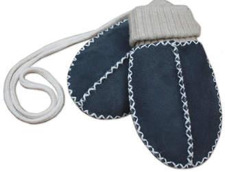 Baa Baby Lambskin Sock Mittens On String