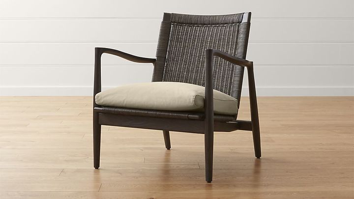 Crate & BarrelSebago Chair with Fabric Cushion