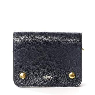 Mulberry Blue Leather Clutch Bag