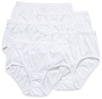 Hanes Ultimate Cool Comfort Cotton Ultra Soft 5 Pair Knit Brief Panty 40hucc