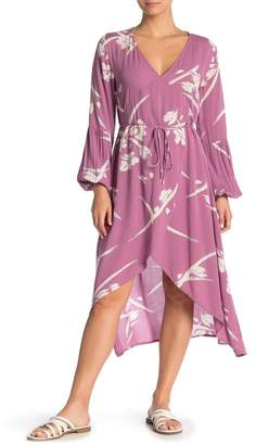 O'Neill Frances Floral Wrap Front Cover Up Dress