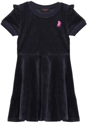 Juicy Couture Velour Ruffle Shoulder Dress