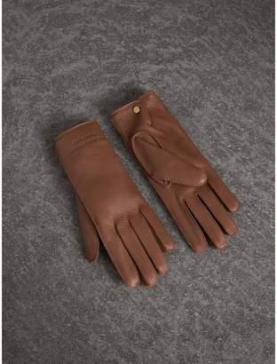 Burberry Deerskin Gloves , Size: 8, Brown