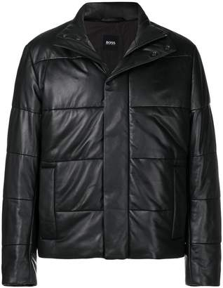HUGO BOSS quilted buttoned jacket