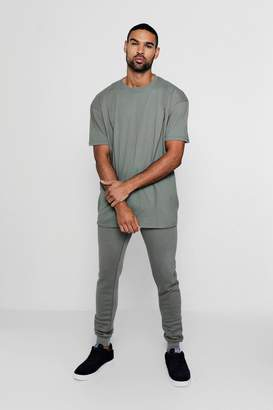 boohoo Oversized T-Shirt And Jogger Tracksuit