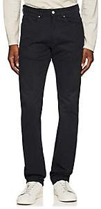 Piattelli MEN'S COTTON-BLEND BROKEN-TWILL FLAT-FRONT TROUSERS