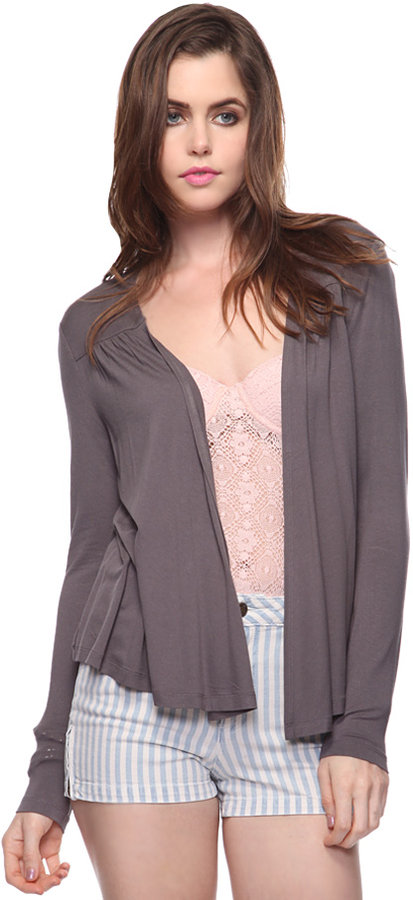 Forever 21 Shirred Open Cardigan