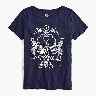"J.Crew ""Love birds"" embroidered T-shirt"