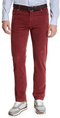Kiton Men's Straight-Leg Corduroy 5-Pocket Pants