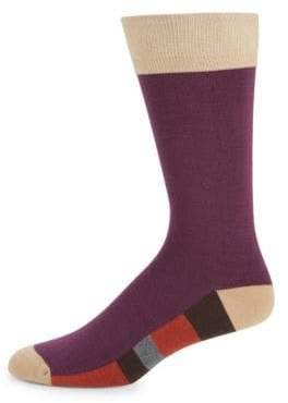 Bruno Magli Color Block Socks