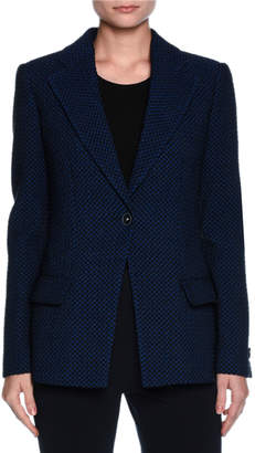 Giorgio Armani Contrast Dot Stretch Jacket, Midnight Blue