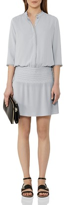 REISS Bergamo Smocked Dress $340 thestylecure.com