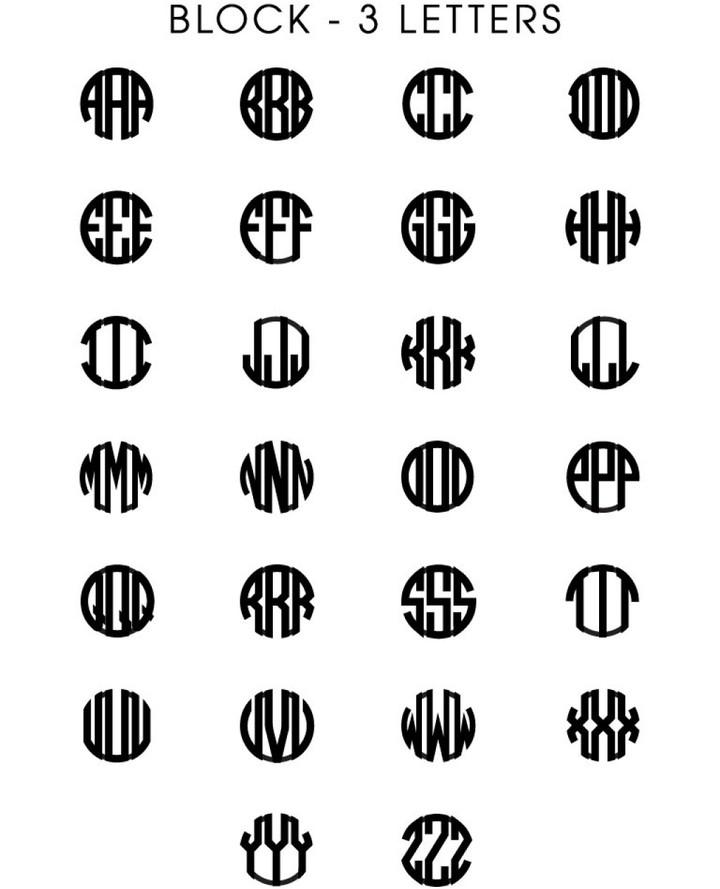 BaubleBar Block Monogram Chain Bracelet