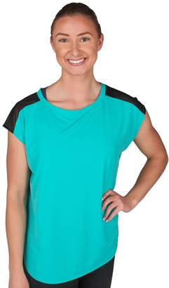 Jockey Women's Sport Illusion Cap Sleeve Tee