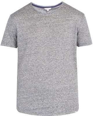 Orlebar Brown Ob T Linen Jersey T Shirt - Mens - Navy