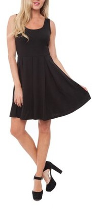 White Mark Women's Fit and Flare Mini Dress