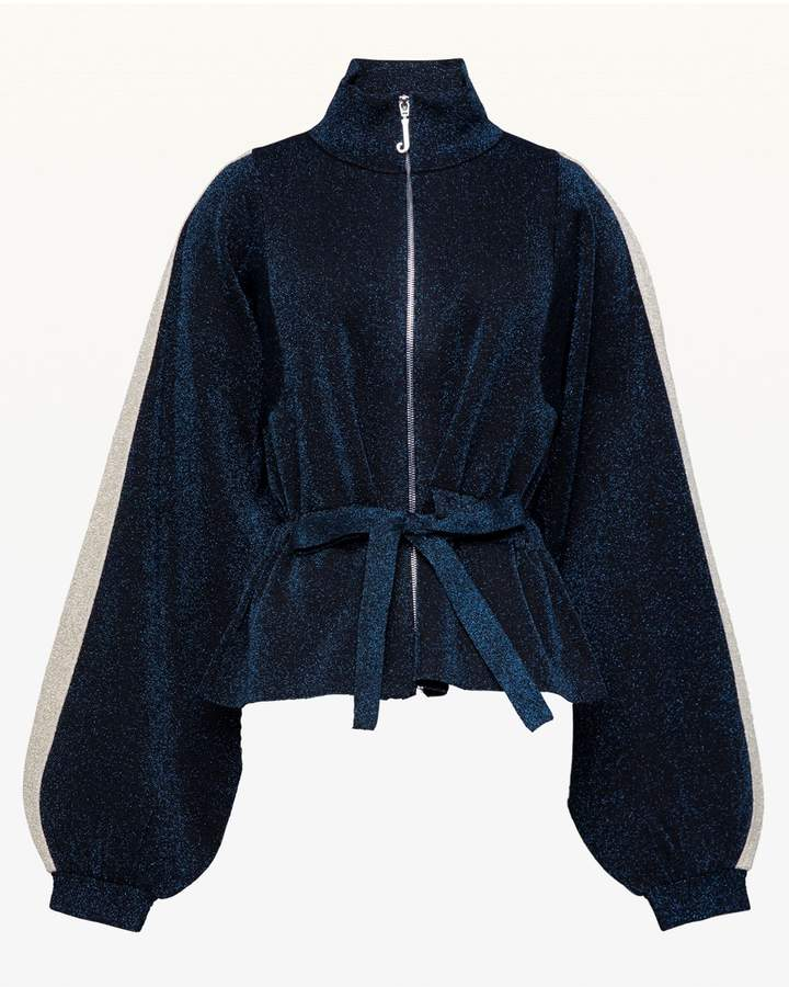 Metallic Sweater Jacket