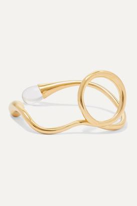 Anne Manns - Eila Gold-plated Quartz Ring
