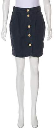 Steven Alan Button-Up Mini Skirt