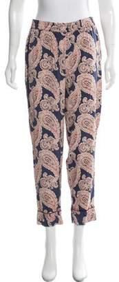 Stella McCartney Silk Paisley Lounge Pants Purple Silk Paisley Lounge Pants