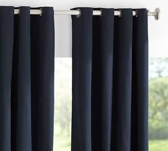 Pottery Barn Sunbrella®; Solid Indoor/Outdoor Grommet Drape - Navy