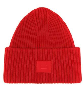 Acne Studios Pansy Face wool beanie
