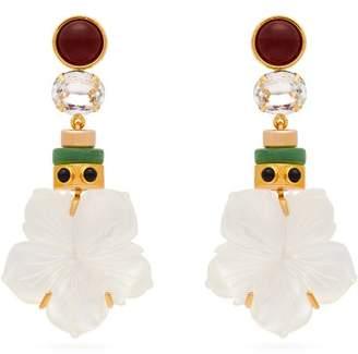 Lizzie Fortunato Margerita Flower Drop Earrings - Womens - Pearl
