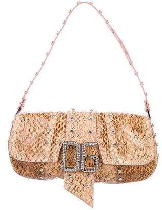 Dolce & Gabbana Snakeskin Embellished Shoulder Bag
