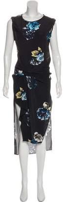 AllSaints Midi Silk Dress