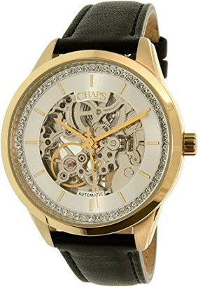 Chaps レディースKasia chp9507ゴールドレザー自動腕時計