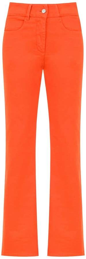 Egrey straight fitted trousers