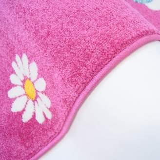 Zoomie Kids Jodie Kids Owl Pink Area Rug Rug