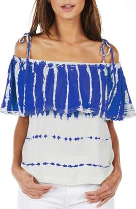 Michael Stars Cold Shoulder Ruffle Top