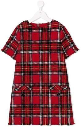 Oscar de la Renta Kids plaid tweed a-line dress