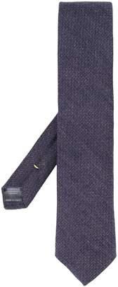 Canali geometric knit tie