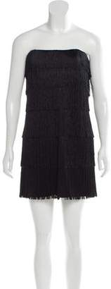 Jay Ahr Fringe Mini Dress