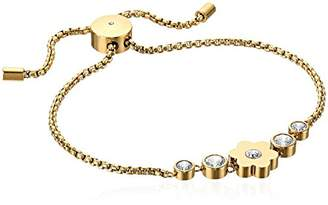 Michael Kors Womens -Tone Flower Link Charm Bracelet