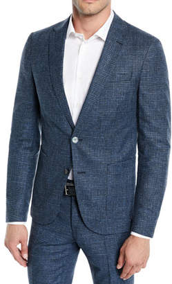 BOSS Men's Micro-Weave Wool/Cotton Two-Piece Suit