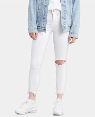 Levi's 721 Ripped High-Rise Ankle Skinny Jeans