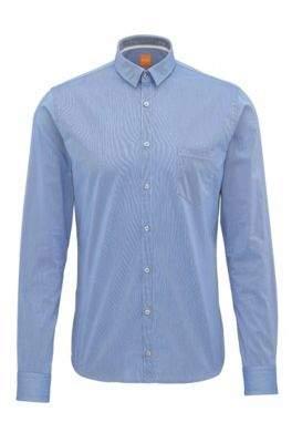 BOSS Hugo Dobby Cotton Button-Down Shirt, Extra Slim Fit Eglam XXL Dark Blue