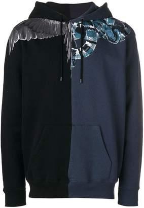 Marcelo Burlon County of Milan Wings Snakes contrast hoodie
