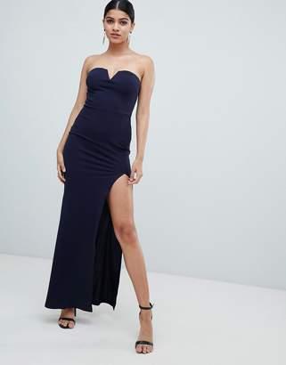 AX Paris deep v fishtail maxi dress