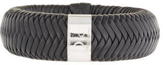 Christian Dior  Christian Dior Braided Leather Bangle