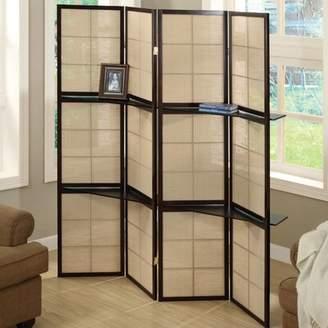 Monarch Specialties Inc. Display Shelf 4 Panel Room Divider Monarch Specialties Inc.