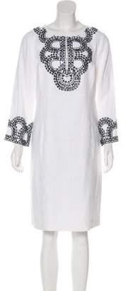 Tory Burch Embellished Linen Dress