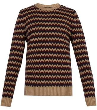A.p.c. - Directeur Jacquard Merino Wool Sweater - Mens - Beige Multi