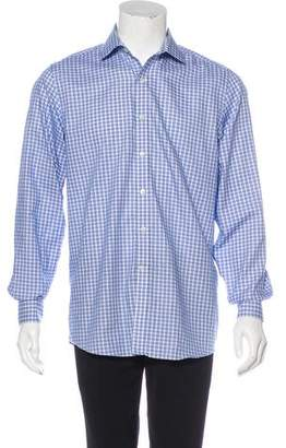 Michael Kors Check Button-Up Shirt