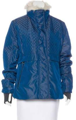 Post Card Fox-Trimmed Puffer Jacket