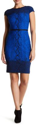 Julia Jordan Cap Sleeve Snake Print Bodycon Dress $198 thestylecure.com