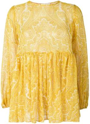 Zimmermann flared paisley blouse